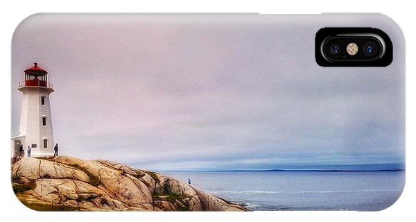 Peggys Point Lighthouse IPhone Case