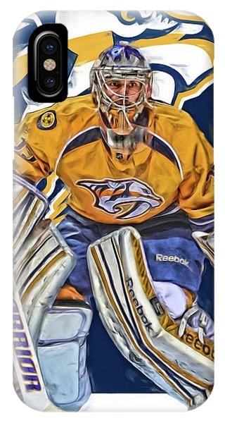Winter iPhone Case - Pekka Rinne Nashville Predators by Joe Hamilton