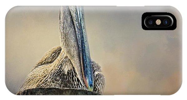 Pelican In Paradise Squared IPhone Case