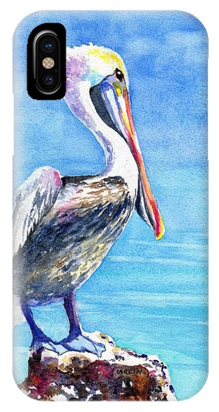 Pelican On A Post  IPhone Case