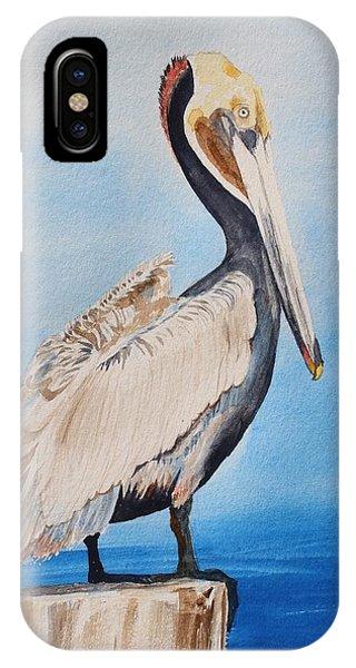 Pylon iPhone Case - Pelican On Post by Pat Hartman