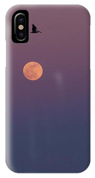 Pelican Over The Moon IPhone Case