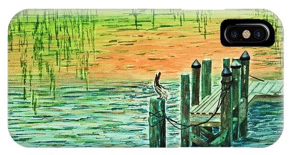 Pylon iPhone Case - Pelican Perch by Terri Mills
