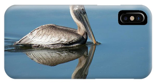 Pelican With Reflection Phone Case by Rosalie Scanlon