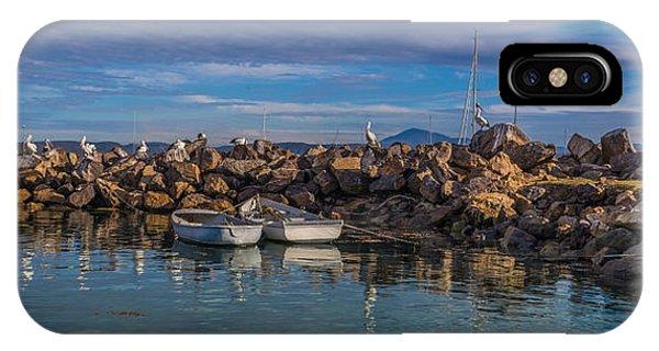 Pelicans At Eden Wharf IPhone Case