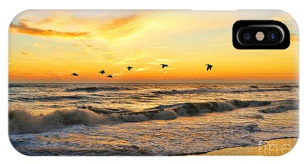 Pelicans At Sunrise  Signed 4651b 2  IPhone Case