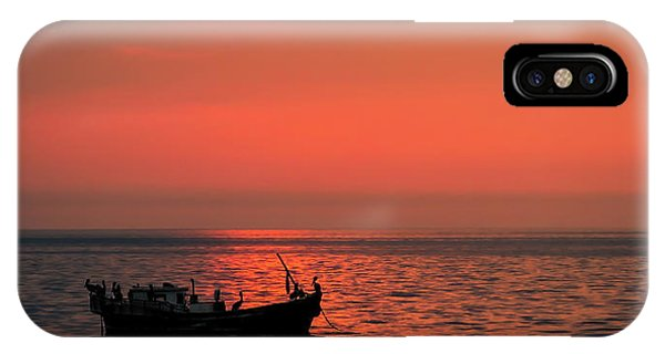 Pelicans At Sunset IPhone Case