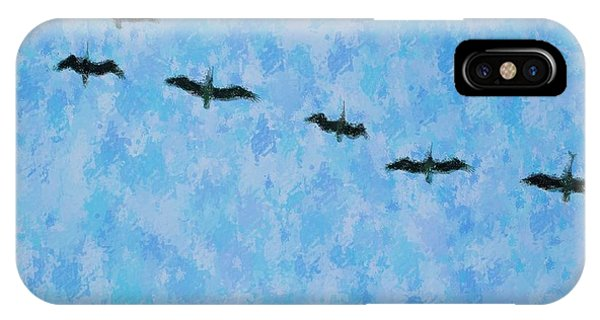 Pelicans' Flight IPhone Case