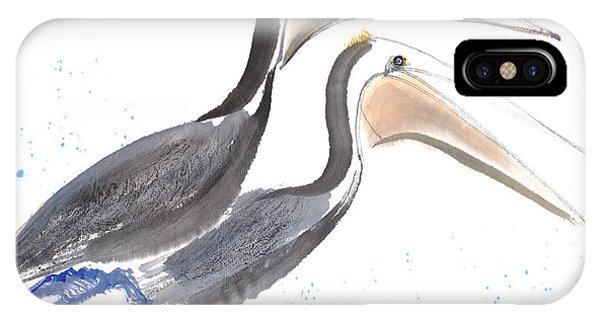 Pelicans Phone Case by Mui-Joo Wee