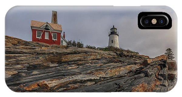 Pemaquid Point Cliffs IPhone Case