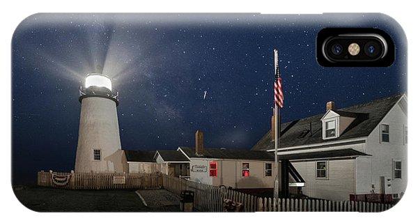 Pemaquid Point Light Flare IPhone Case