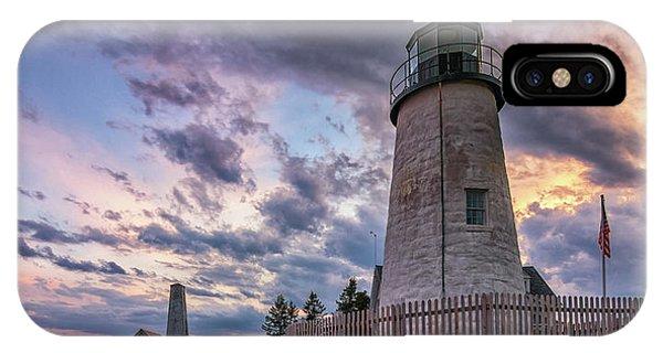 Pemaquid Point Lighthouse At Sundown IPhone Case