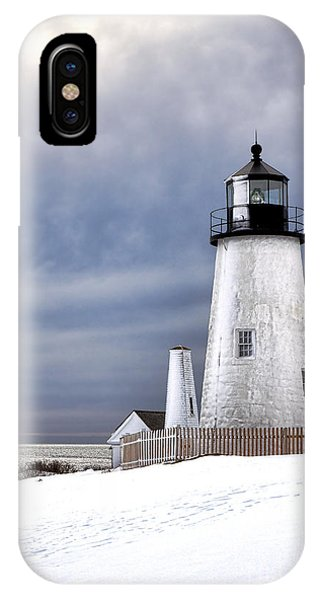 Navigation iPhone Case - Pemaquid Point Lighthouse In Winter by Olivier Le Queinec