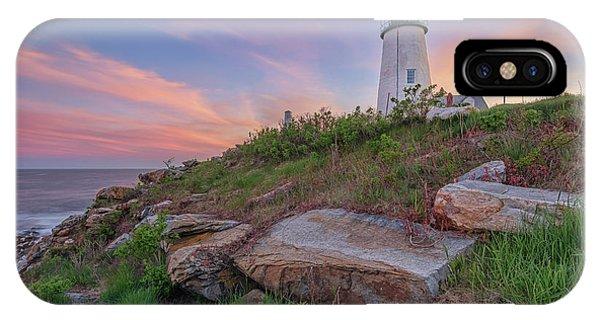 Pemaquid Point Sunset IPhone Case