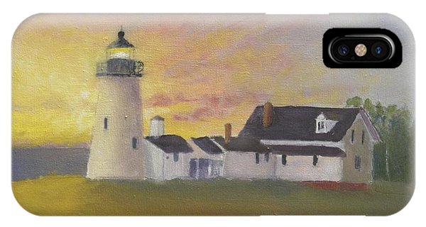 Pemaquid's First Light IPhone Case