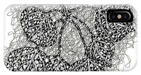 Pen And Ink Drawing Of Aspen Leaves IPhone Case
