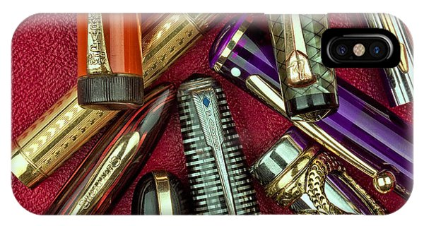 Swan iPhone Case - Pen Caps Still Life by Tom Mc Nemar