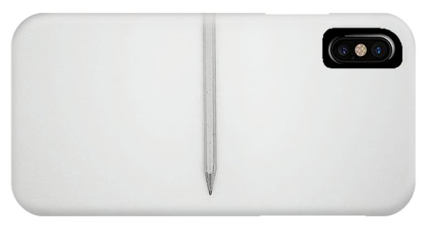 Minimalist iPhone Case - Pencil On A Blank Page by Scott Norris