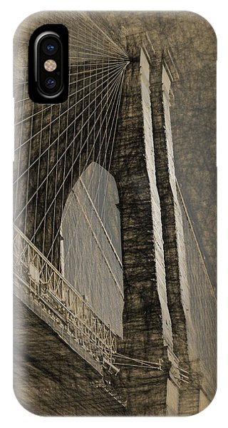 Pencil Sketch Of The Brooklyn Bridge IPhone Case