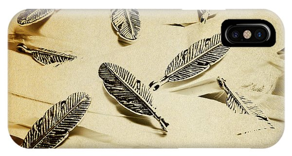 Romantic Background iPhone Case - Pendants And Quills by Jorgo Photography - Wall Art Gallery