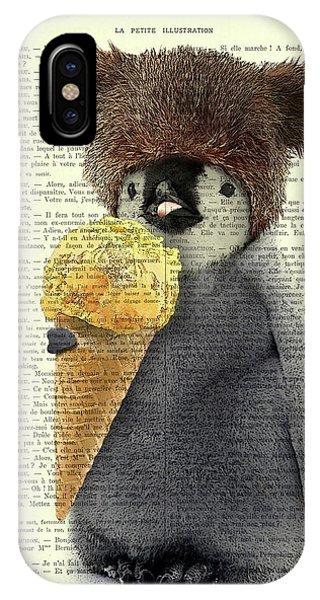 Ice iPhone Case - Penguin Ice Cream by Madame Memento
