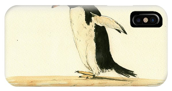 Penguin iPhone Case - Penguin Walking by Juan  Bosco