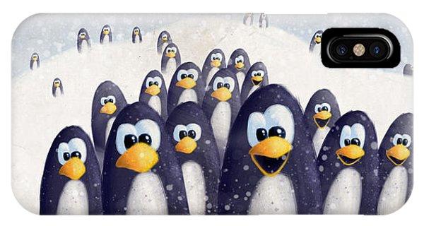 Penguin Winter IPhone Case
