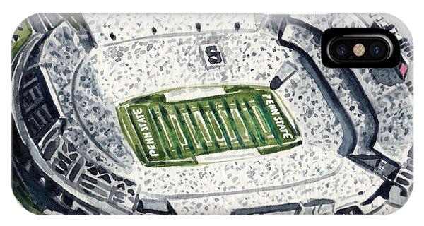 Penn State Beaver Stadium Whiteout Game University Psu Nittany Lions Joe Paterno IPhone Case
