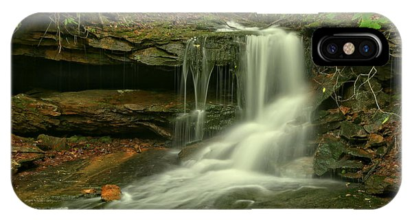 Somerset County iPhone Case - Pennsylvania Cave Falls by Adam Jewell