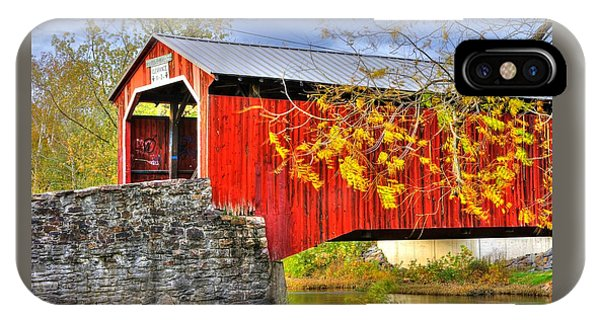 Pennsylvania Country Roads - Dellville Covered Bridge Over Sherman Creek No. 13 - Perry County IPhone Case