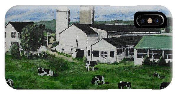 Pennsylvania Holstein Dairy Farm  IPhone Case