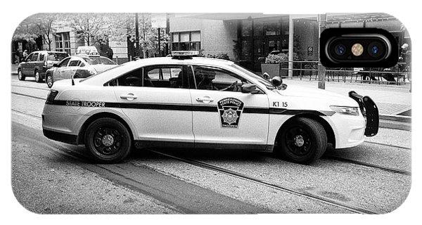 pennsylvania state trooper police cruiser vehicle Philadelphia USA IPhone Case