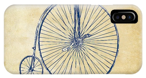 Penny-farthing 1867 High Wheeler Bicycle Vintage IPhone Case