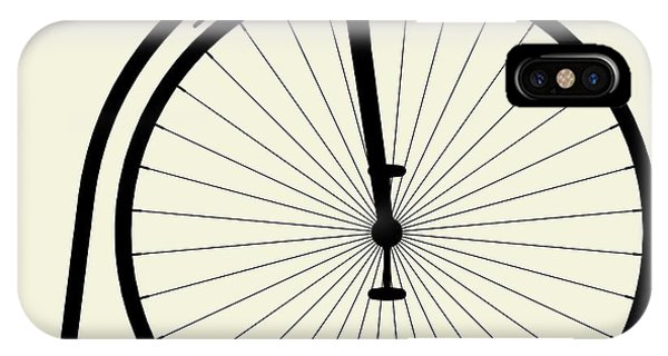 Bike iPhone Case - Penny-farthing Bicycle by Nenad Cerovic