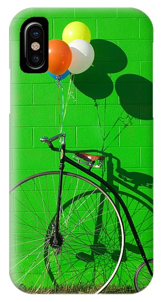 Green iPhone Case - Penny Farthing Bike by Garry Gay
