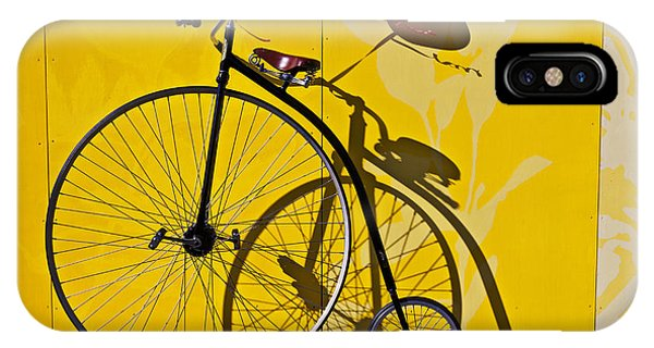 Bicycle iPhone X Case - Penny Farthing Love by Garry Gay