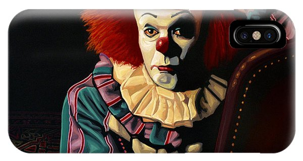 Cinema iPhone Case - Pennywise by Paul Meijering