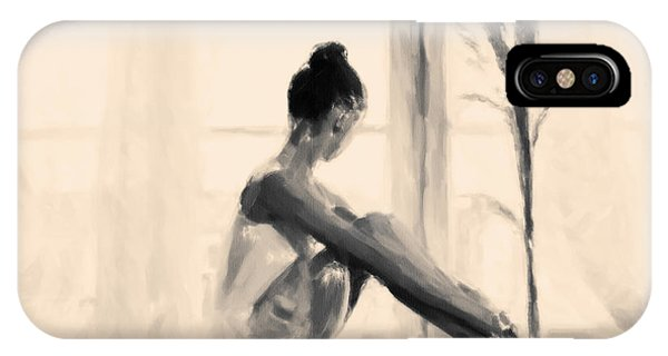 Pensive Ballerina IPhone Case