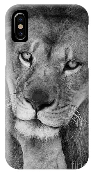 Pensive Black And White IPhone Case