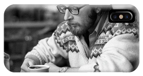 Pensive Brown Student, Louis Restaurant, 1976 IPhone Case