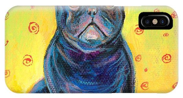 French Artist iPhone Case - Pensive French Bulldog Painting Prints by Svetlana Novikova