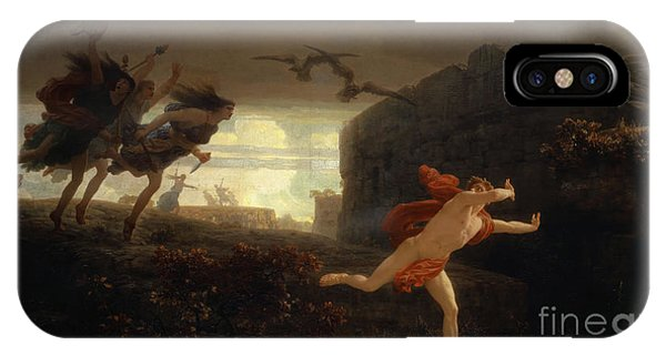 King Charles iPhone Case - Pentheus Pursued By The Maenads by Charles Gleyre
