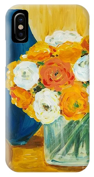 IPhone Case featuring the painting Peonies by Maria Langgle