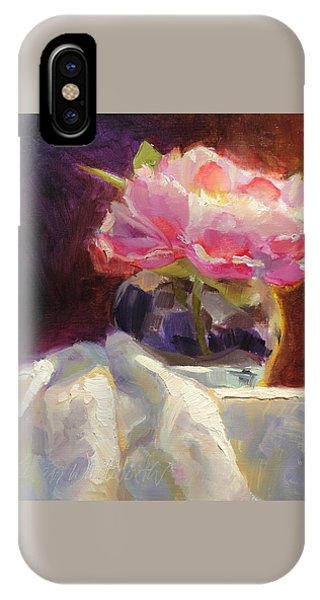 Peony Glow  Colorful And Edgy Still Life IPhone Case