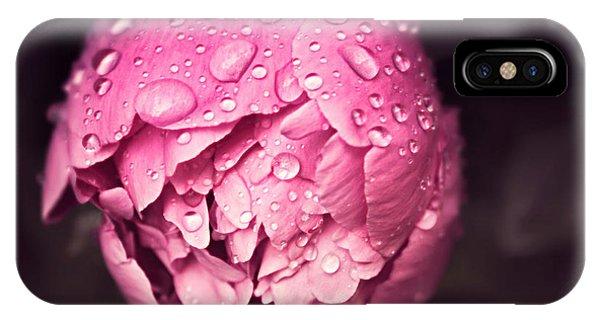Peony In The Rain IPhone Case