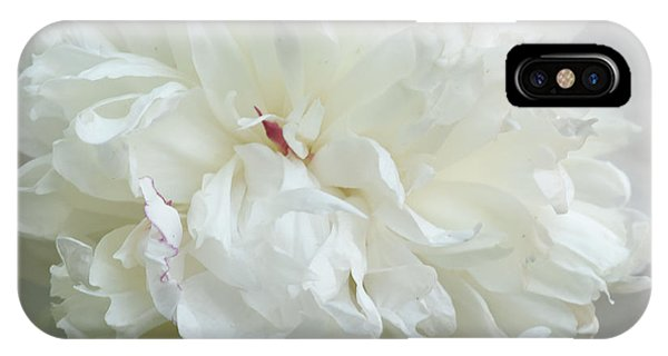 Peony In White IPhone Case