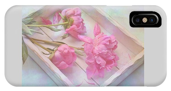 Peonies In White Box IPhone Case