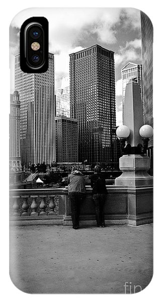 People And Skyscrapers IPhone Case
