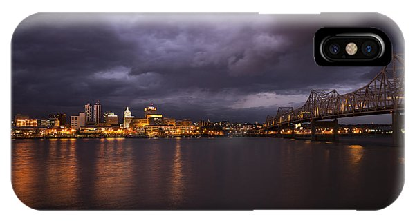 IPhone Case featuring the photograph Peoria Dramatic Skyline by Andrea Silies