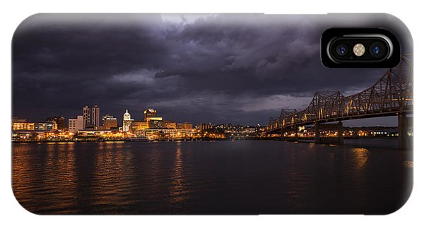 IPhone Case featuring the photograph Peoria Stormy Cityscape by Andrea Silies